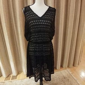 Ruby Ribbon black lace dress